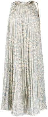 Erika Cavallini Pleated Flared Midi Dress