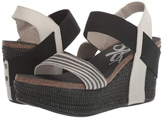 OTBT Bushnell (Winter White) Women's Wedge Shoes