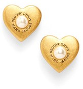 Marc by Marc Jacobs Women's Marc Jacobs Faux Pearl Heart Stud Earrings