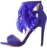Charlotte Russe Feather Two-Piece Dress Sandals