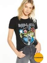 Replay Rose Logo T-shirt - Black