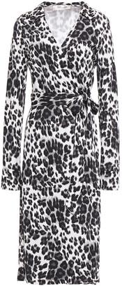 Diane von Furstenberg Leopard-print Silk-jersey Midi Wrap Dress