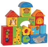 Stephen Joseph Zoo Animals 14-Piece Wooden Block Set