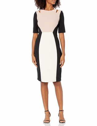 Gabby Skye Women's Cut Out Elbow Sleeve Sheath Dress