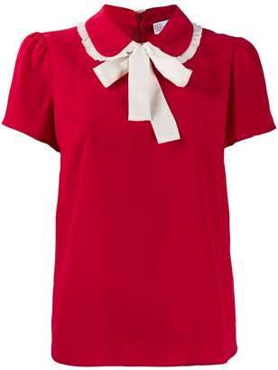 RED Valentino collar bow top
