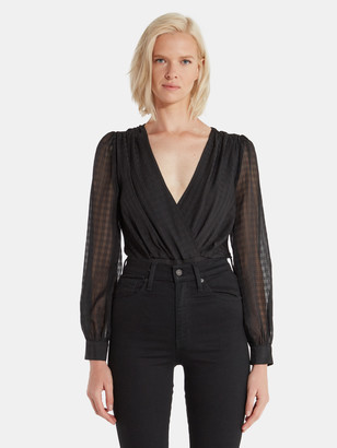 4SI3NNA the Label Louella Cross Front Bodysuit