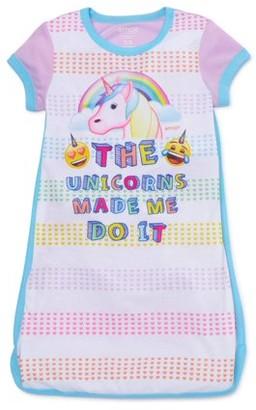 Emoji Girls Exclusive 4-12 Short Sleeve Pajama Nightgown