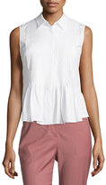 Theory Dionelle B Sartorial Pintuck Top, White