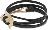 Miansai Anchor half-cuff leather bracelet