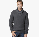 Johnston & Murphy Shawl Collar Birdseye Sweater