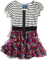 Truly Me Mixed Pattern Dress (Big Girls)