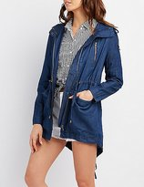 Charlotte Russe Hooded Chambray Anorak