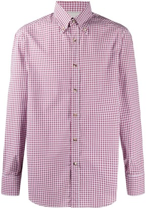Brunello Cucinelli Checked Long Sleeved Shirt