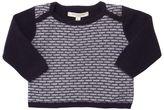 Caramel Baby And Child Jacquard Merino Wool Blend Sweater