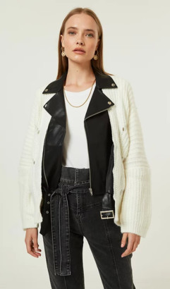 Jovonna London White Westin Jacket - S/M | white - White/White