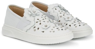 Ermanno Scervino Cut-Out Flower Sneakers