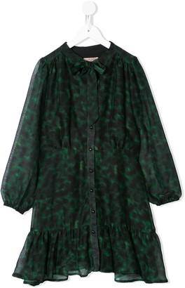 Marchesa Notte Mini Haisley leopard print dress