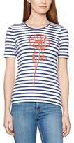 Gerry Weber Women's Stripe Print with Flower Motif T-Shirt