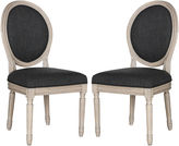 Safavieh Charcoal Linen Side Chairs, Pair