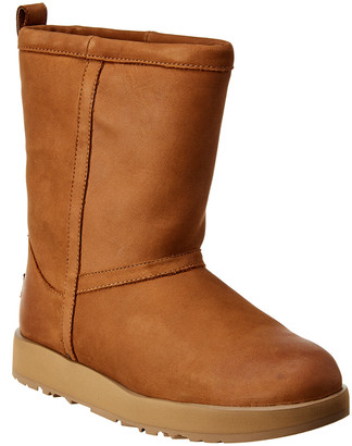 UGG Women's Classic Short Waterproof Leather Boot