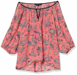 Single Dress Women's Plus Size Printed Cut Out Blouse