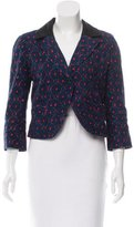 Anna Sui Printed Cropped Blazer