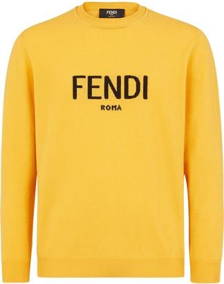 Fendi Logo Crew Neck Jumper
