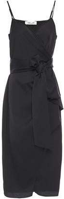 Diane von Furstenberg Avila Satin-crepe Midi Wrap Dress