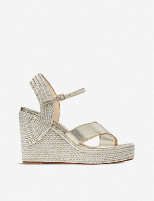 Jimmy Choo Dellena 100 leather wedge sandals