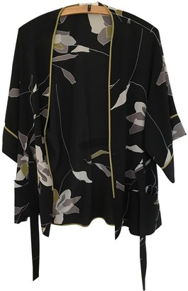 Halston Black Silk Top for Women