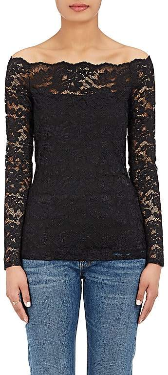L'Agence Women's Heidi Lace Off-The-Shoulder Top