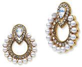 Jenny Packham Pierced Goldtone Hoop Drop Earrings