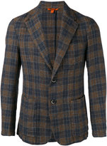 Barena checked blazer - men - Cotton/Linen/Flax - 50