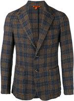 Barena checked blazer - men - Cotton/Linen/Flax - 52