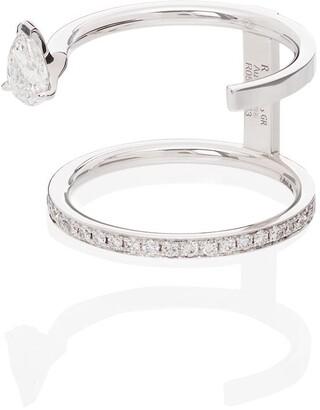 Repossi Serti Sur Vide 18kt white gold diamond ring