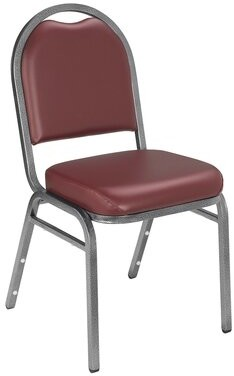 Banquet Chair with Cushion National Public Seating Frame: Silvervein, Upholstery: Vinyl - Pleasant Burgundy