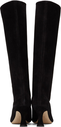 BY FAR Black Suede Stevie 42 Tall Boots
