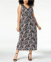 NY Collection Plus Size Embellished Maxi Dress