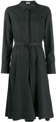 Brunello Cucinelli topstitched dress coat