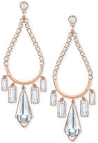 Swarovski Rose Gold-Tone Crystal Chandelier Earrings