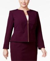 Calvin Klein Plus Size Zip-Front Blazer