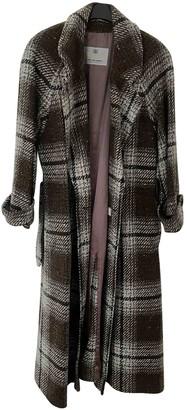 Aquascutum London Brown Wool Coat for Women