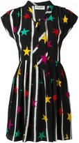 Saint Laurent babydoll lavaliere star dress - women - Silk - 38