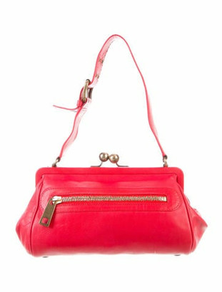 Marc Jacobs Leather Shoulder Bag w/ Tags Red