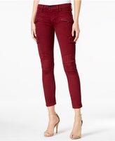 Hudson Cropped Cargo Skinny Jeans, Dark Amber Wash