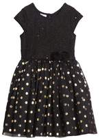 Frais Toddler Girl's Metallic Dot Dress