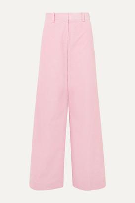 Bella Freud Bianca Cotton-corduroy Wide-leg Pants - Pink