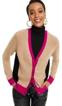 Charter Club Cashmere Long Sleeve Boyfriend Cardigan, Regular & Petite Sizes, Created for Macy's