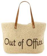 Straw Studios Out Of Office Conversation Straw Tote