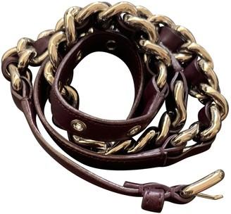 Miu Miu Purple Leather Belts